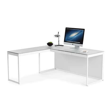 office desk with return centro 6401 desk and 6402 return by bdi