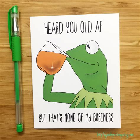 Meme Birthday Cards - funny birthday card kermit the frog kermit muppets meme