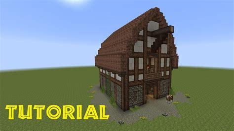 Haus In Scheune Bauen by Minecraft Tutorial Eine Scheune Bauen Minecraft Building