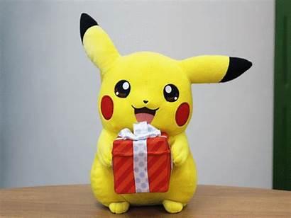 Visa Pokemon Card Pikachu Holding Present Japan
