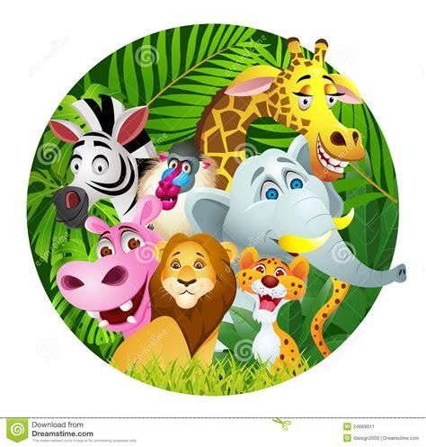funny animal cartoon stock vector illustration