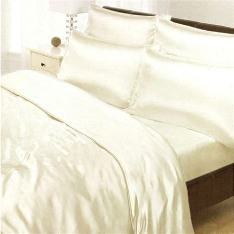 satin single duvet cover fitted sheet 2 pillowcases new bedding 5025314038346 ebay