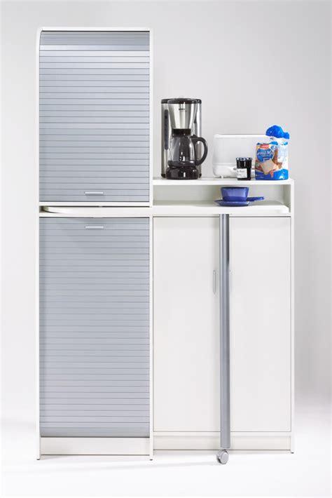 meuble de cuisine 224 rideau avec plateau pivotant blanc