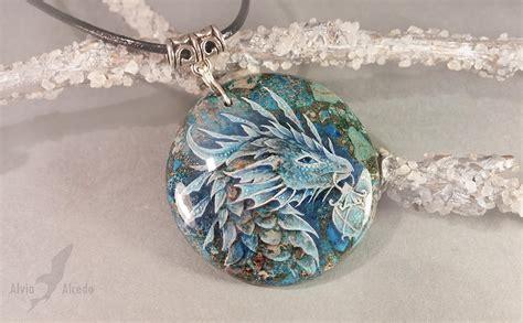 legendary dragons hand painted  gemstones scene