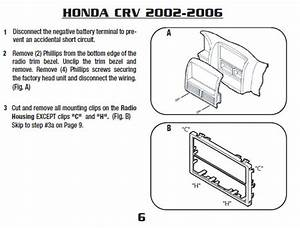 2006 Honda Crv Installation Parts  Harness  Wires  Kits