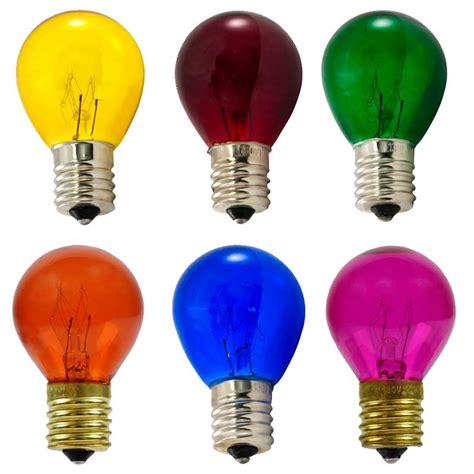 colored light bulbs multi color pack of b10 s11 light bulbs