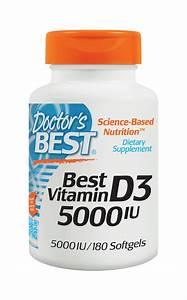 Amazon Com  Doctor U0026 39 S Best Vitamin D3 5000iu  Soft Gels  180