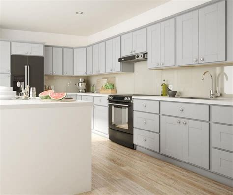 Gray Kitchen Cabinets by Princeton Base Cabinets In Warm Grey Kitchen The Home