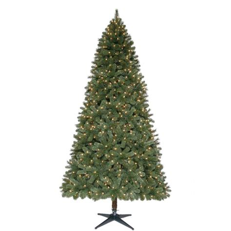 home accents holiday 9 ft wesley mixed spruce quick set