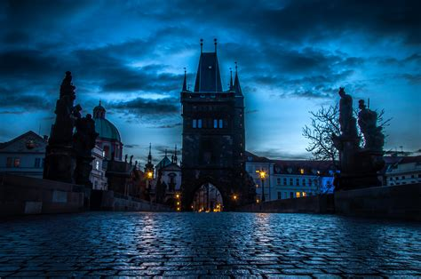 Man In The High Castle Wallpaper Prague Cityscape At Night Full Hd Wallpaper And Background Image 2710x1800 Id 703296