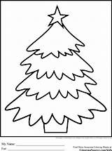 Coloring Christmas Pages Tree Simple Sheets Printable Ginormasource Outline Whimsical Template Trees sketch template