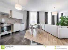 interior design kitchen room modern interior design living room with kitchen stock image image 44126399