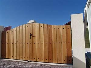 Portail En Bois : portail fer bois ~ Premium-room.com Idées de Décoration