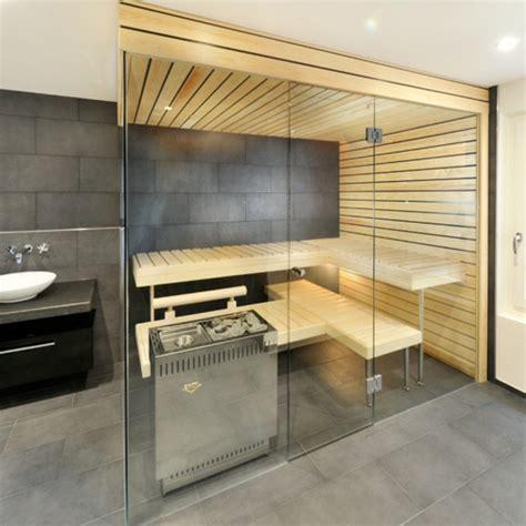 Kleine Sauna Fürs Badezimmer by Sauna Mit Glasfront 52 Ultramoderne Designs Archzine Net