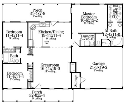 great room house plans one country style house plan 3 beds 2 00 baths 1492 sq ft