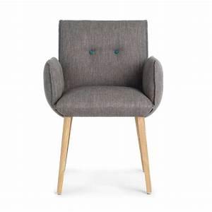 fauteuil contemporain de salle a manger en bois et tissu With salle À manger contemporaine avec fauteuil en bois