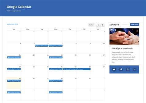 google calendar calendar wplook documentation