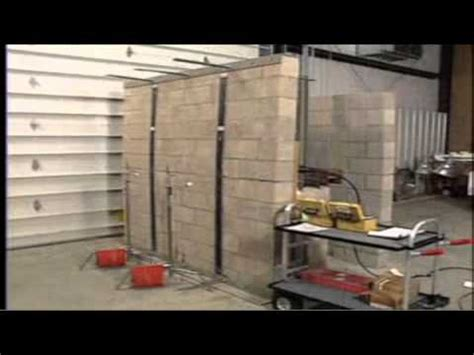 concrete wall repair bowing wall reinforcement systems omni basement systems