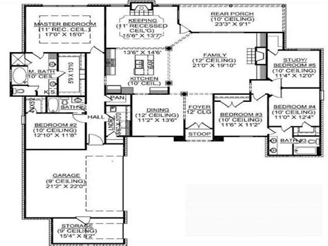 5 bedroom floor plans 1 1 5 square house plans 1 5 bedroom house plans