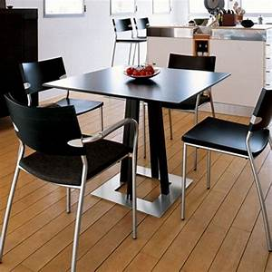 Dining room designs minimalist kitchen design black small for Small kitchen table and chairs 2 design