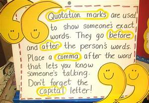 First Grade Wow... Quotation Marks Quotes