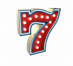 7 Number Graphic Lamp By Delightfull DEMORAIS INTERNATIONAL