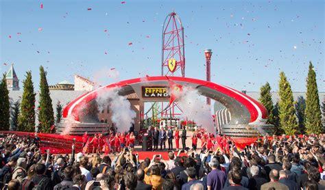 amusement park  car fans ferrari land  spain opens