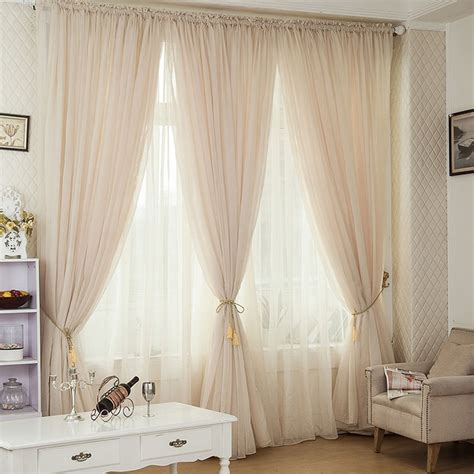 chagne color pinch pleated drapes rod pocket voile