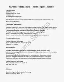 resume samples cardiac ultrasound technologist resume sample