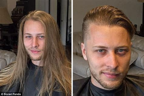 bored panda shares   men  cutting long hair