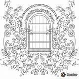 Coloring Garden Pages Gate Drawing Gates Adults Adult Books Drawings Getdrawings Paintingvalley sketch template