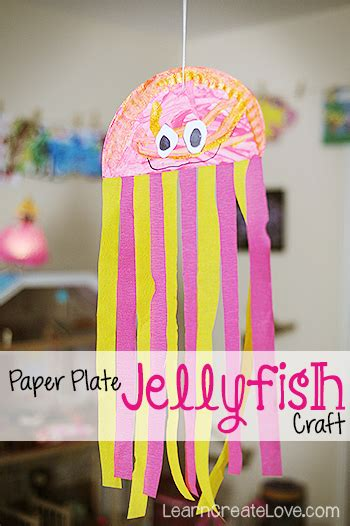 paper plate jellyfish craft students   craft
