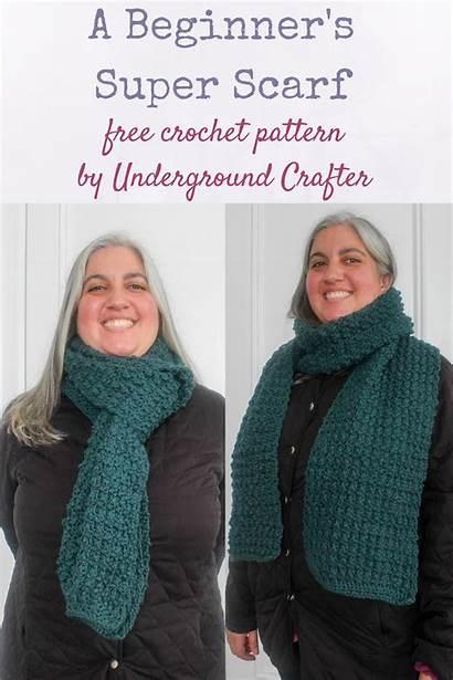 Crochet Scarf Pattern Undergroundcrafter Beginner