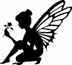 Fairy silhouette with Flower vinyl decal/sticker car truck
