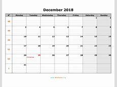 December 2018 Calendar WikiDatesorg