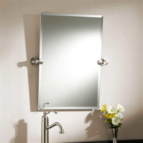 Tilting Bathroom Mirror Polished Nickel by Rectangular Brass Mirror Signaturehardware
