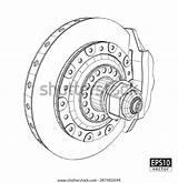Brake Calipers Discs Eps10 sketch template