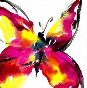 abstract watercolor butterfly | art inspiration | Pinterest