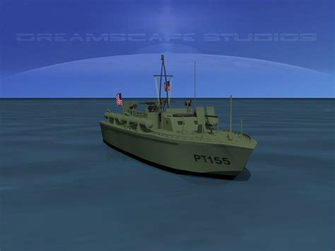 Pt Boat Elco by Elco Pt Boat Pt155 3d Model Rigged Max Obj 3ds Lwo Lw Lws