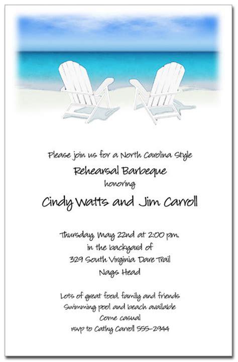 white adirondack chairs   beach party invitations