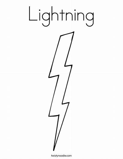 Lightning Bolt Coloring Thunder Template Twistynoodle Pages