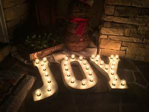 large joy lighted metal letter signchannel letterindustrial With large metal letters with lights