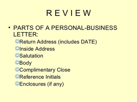 parts of a business letter business letters power point presentation 23032