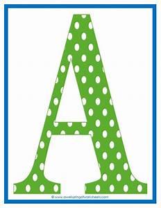 9 best images of polka dot printable alphabet letters for Dots alphabet letter