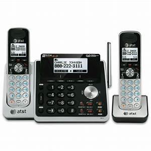 At U0026t Two  2  Handset Cordless Phone Bundles