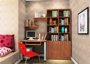 tranquil modern study room design with yellow swivel chair