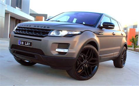 range rover evoque wrapped   matte charcoal metallic