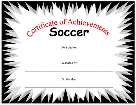 soccer certificate template microsoft word templates