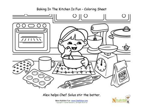 baking  kids coloring page  kids