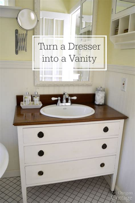 bathroom planning ideas how to a dresser into a vanity tutorial